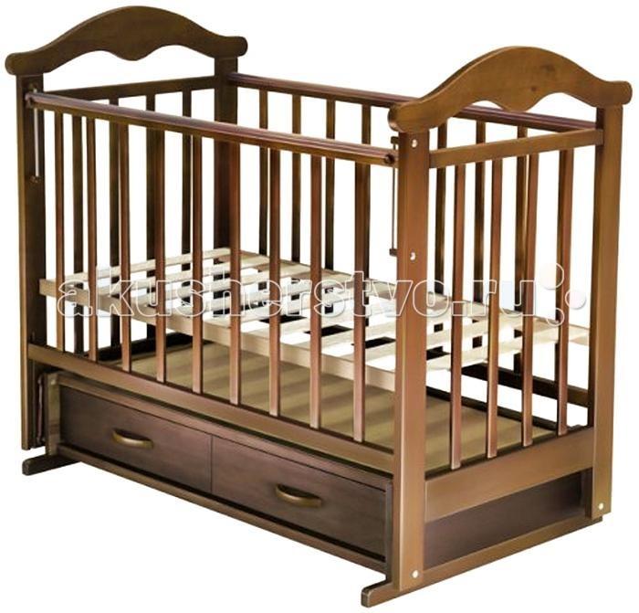 Детская кроватка Ведрусс Солнышко №4 (поперечный маятник) - Орех