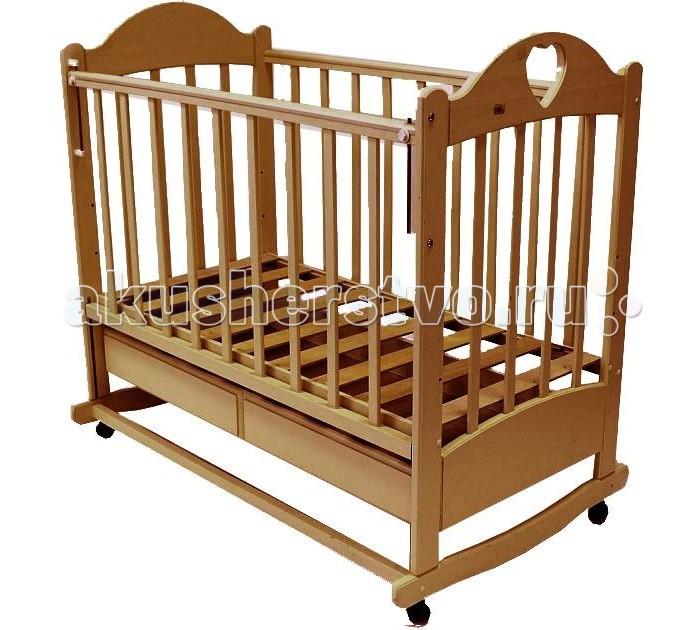Детская кроватка Ведрусс Таисия №2 (качалка) - Орех