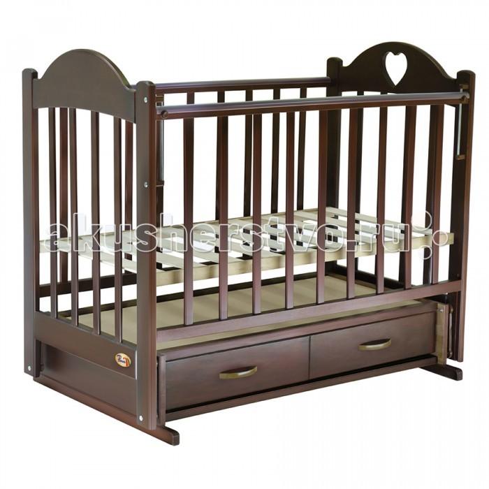 Детская кроватка Ведрусс Таисия №3 (поперечный маятник) - Вишня