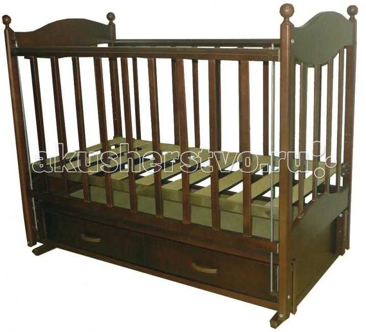 Детская кроватка Ведрусс Эля (продольный маятник) - Орех