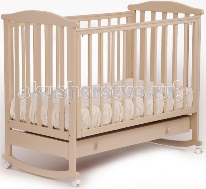 Детская кроватка Кубаньлесстрой АБ 15.1 Лютик качалка с ящиком