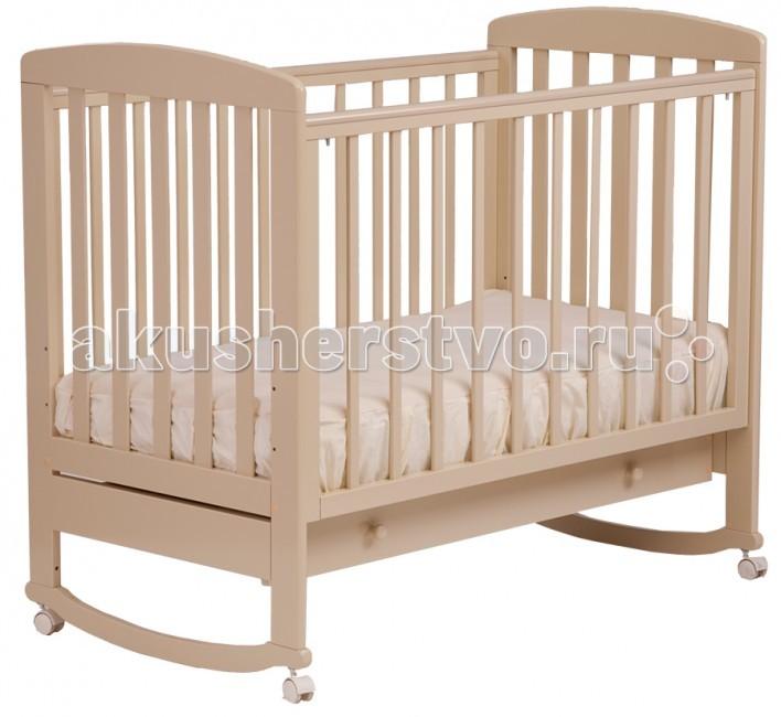 Детская кроватка Кубаньлесстрой АБ 16.1 Ромашка качалка с ящиком