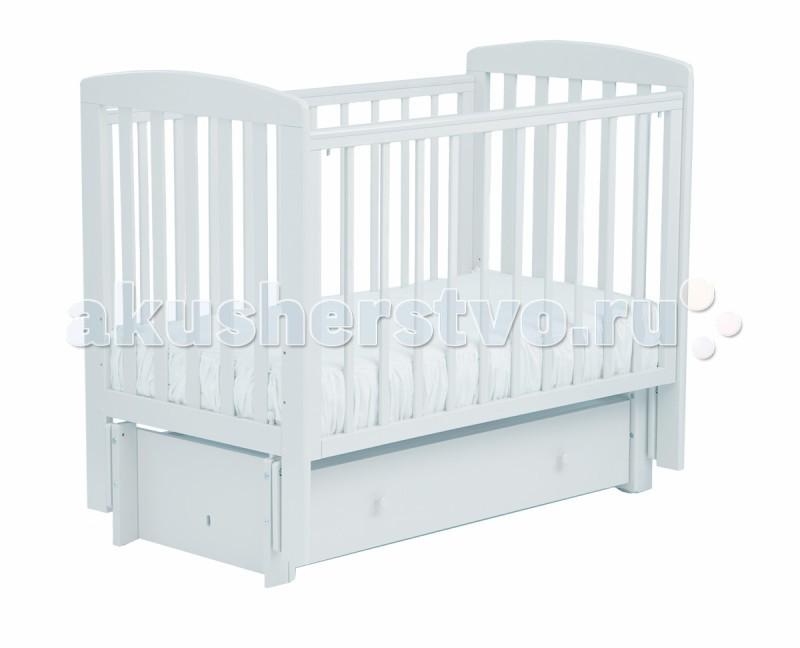 Детская кроватка Кубаньлесстрой АБ 16.3 Ромашка маятник продольный с ящиком