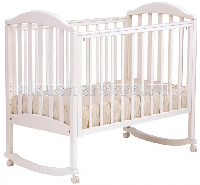 Детская кроватка Кубаньлесстрой АБ 17.0 Лилия Люкс качалка без ящикаАБ 17.0 Лилия Люкс качалка без ящикаНатуральный материал, привлекательный дизайн и демократичная цена - вот главные преимущества кроваток Кубаньлесстрой. Если мебель с именно этими качествами вы стараетесь подобрать для детской комнаты своего малыша, считайте, что вы на правильном пути: кроватка-качалка Лилия сочетает в себе все три!  Каждая мама знает, что ребенка по возможности должны окружать экологически чистые материалы - белье и одежда из хлопка и нежной шерсти, мебель из натурального дерева. Кроватка Лилия изготовлена из массива бука, древесина которого долговечна и не боится влаги. Лилия верно прослужит малышу с самого его рождения и до примерно трех лет, пока ваш ребенок не вырастет из своей первой кроватки.  По мере роста крохи эта удобная кроватка-качалка изменяется вместе с ним: саморегулирующиеся колесики снимаются, передняя стенка и дно могут фиксироваться на 3 различных уровнях. Когда малыш начнет самостоятельно забираться в кроватку, можно будет снять 2 планки передней стенки, а то и всю боковую стенку, превратив кроватку в уютный диванчик.  Ну а в период прорезывания зубок вы также по достоинству оцените защитные силиконовые накладки на верхних перекладинах и безвредное лакокрасочное покрытие на водной основе.   три положения передней стенки три уровня положения дна 2 съемные планки с передней стенки полозья для качания съемные саморегулирующиеся колеса без фиксатора силиконовые защитные накладки съемная передняя стенка Габариты: ВхШхГ 112 х 128 х 72 см Габариты изделия в упаковке: 125 х 74 х 17 см,  Размер спального места: 120 х 60 см,  Безопасное расстояние между рейками, 8 см Допустимые уровни высоты ложа: 36 / 47 / 57 см.  Внимание! Колеса у всех расцветок данной модели черного цвета!<br>