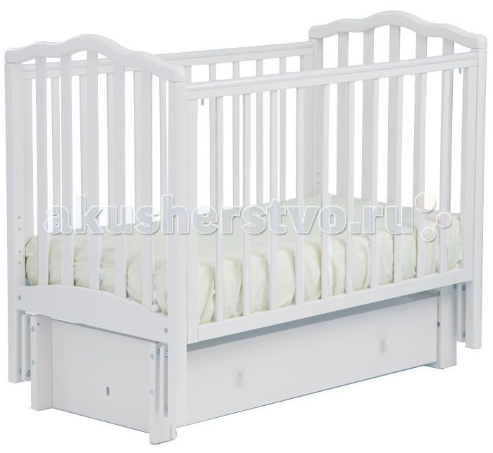 Детская кроватка Кубаньлесстрой АБ 19.3 Жасмин маятник продольный с ящиком
