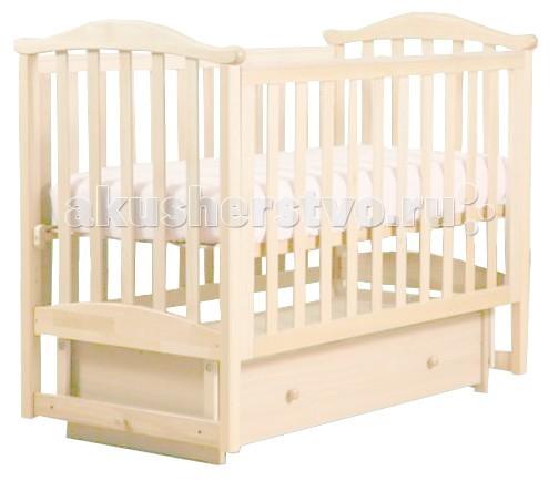 Детская кроватка Кубаньлесстрой АБ 25.2 Виола маятник поперечный с ящиком