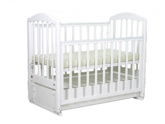 Детская кроватка Фея 660 с ящиком (продольный маятник)