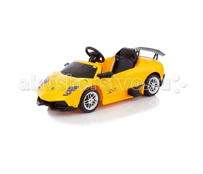 Электромобиль Jetem Lamborghini MurcielagoLamborghini MurcielagoЭлектромобиль Jetem (Capella) Lamborghini Murcielago имеет особо прочный пластиковый каркас делает его полностью безопасным. Дизайн автомобиля, его технические данные и название имеют прочную связь с историей марки. Время зарядки: первые пять раз рекомендуется заряжать не более 20 часов, последующие зарядки 8-10 часов. Время работы без подзарядки - 3 часа. Краска перемешана с пластиком так, что удаление пятен и мелких царапин, появившихся во время игры, не составит труда.  Изысканный автомобиль теперь доступен и Вашему ребенку!Пульт дистанционного управления, с помощью которого родители могут контролировать движение машины. Радиус действия пульта 30 метров! Пластмассовые колеса позволяют двигаться практически бесшумно. Устойчивые колеса с резиновой накладкой и широкой поверхностью позволят вашему ребенку без труда перемещаться по любой поверхности, избегая скольжения, даже по влажному асфальту. Предельно простое управление: электромобиль приходит в движение от нажатия педали, расположенной под правой ножкой малыша.  Характеристики:  электродвигатель 6В на два ведущих колеса аккумуляторная батарея:6В/4 Ah зеркала заднего вида передний свет фар, горящих при движении вперёд удобное сидение привод типа синхронный вал передачи переднего и заднего хода нарастающее ускорение задний спойлер европейская конструкция и дизайн высокого качества настоящие легкосплавные диски максимальная скорость 2-2,5 км/час материал: безвредный нетоксичный пластик, соответствует строгим мировым стандартам качества и безопасности для детских товаров  Электромобиль комплектуется: зарядным устройством пультом управления  Размеры: размер машинки (дхвхш): 121х57,5х47 см вес: 11,5 кг  Рекомендована для детей от 3 до 6 лет (до 25 кг.).<br>