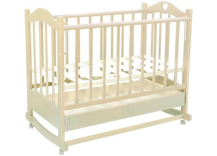 Детская кроватка Ведрусс Лана №2 (качалка) - Слоновая кость