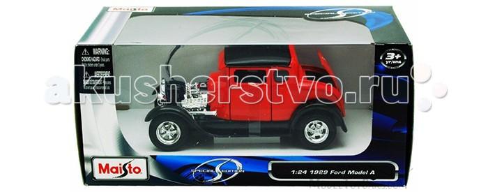 Maisto Автомобиль Ford Model AАвтомобиль Ford Model AАвтомодель Maisto Ford Model A - высококачественная коллекционная модель реального автомобиля в масштабе 1:24.    Особенности:   У автомодели литой металлический корпус с высокой детализацией двигателя, интерьера салона, дисков, протекторов и выхлопной системы  У машинки открываются двери, капот, багажник  Колеса амортизированы  Есть специальная пластиковая подставка для авто  Материал автомобиля металл с пластиковыми частями<br>