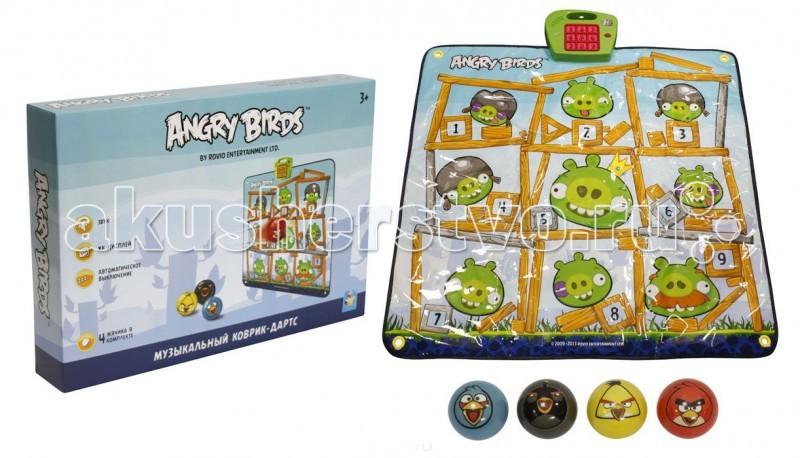 Игровой коврик 1 Toy Музыкальный дартс Angry Birds
