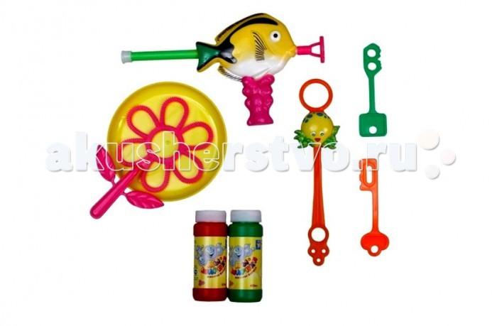 1 Toy Набор игрушек с мыльными пузырями Мы-шарики РыбкаНабор игрушек с мыльными пузырями Мы-шарики Рыбка1 Toy Набор игрушек с мыльными пузырями Мы-шарики Рыбка всегда вызывают восторг не только у детей, но и у многих взрослых.  Особенности: Этот набор поможет создать несколько видов пузырей, поскольку в него входит все необходимые для этого аксессуары и два пузырька с мыльным составом.  Все приспособления легки в использовании, поэтому ребенок сможет сам справиться с задачей.  В комплекте: два флакончика 60 мл с мыльными пузырями, аксессуары.<br>