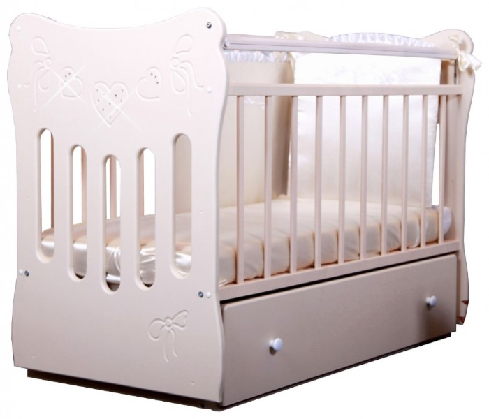 Детская кроватка Островок уюта Бантики (маятник поперечный)