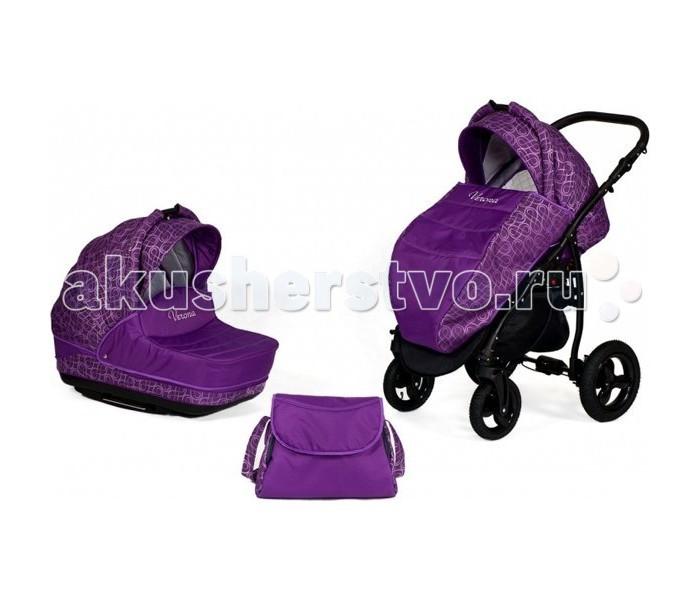 Коляска Baby World Verona 2 в 1Verona 2 в 1Детская коляска 2 в 1 Baby World Verona  - несомненно понравится Вам и Вашему ребенку. Baby World Verona прослужит Вам не один год и успешно перейдет по наследству любому другому малышу.   В комплект коляски входят люлька, прогулочный блок, который можно устанавливать по ходу движения или против хода движения, матрасик с подушечкой для малыша, а также сумка для мамы.   Производитель Baby World предлагает широкий выбор цветовой гаммы, в т.ч. модели изготовленные из ЭКО кожи.  Кроме того родители малыша оценят компактность коляски, которая занимает мало места.  Характеристики люльки  Вес люльки – 4 кг Длина – 80 см Ширина – 35 см глубина – 23 см Короб люльки пластиковый, с функцией укачивания Люлька имеет регулируемый подголовник Капор с вентиляционным окном в задней части Бесшумный механизм регулировки капора Козырек капора используется в трех положениях Удобная отцентрованная ручка для переноски люльки Внутренняя подкладка легко снимается для стирки.  Характеристики прогулочного блока  Вес прогулочного блока – 3.5 кг Длина – 98 см Ширина – 37 см Прогулочный блок устанавливается по ходу и против хода движения Регулируемая спинка Собственный капор Дополнительный, съемный матрасик Регулируемая подножка, Съемный поручень Пяти точечный ремень безопасности Практичная накидка на ножки. Все части коляски складываются очень компактно и занимают мало места Регулируемая по высоте ручка, отделана Эко кожей Материал – водоотталкивающая ткань Колеса надувные  Диаметр колес передние 10 ', задние 12', Передние колеса поворотные, с фиксаторами Тросиковый тормоз (самоискатель)  В комплект коляски Verona входит: Люлька, прогулочный блок (со своим капором), шасси, корзина для покупок, матрасик и подушечка для ребенка, сумка для мамы.  Вес коляски:  Шасси + люлька: 11.5 кг Шасси + прогулочный блок: 11 кг Вес шасси: 7.5 кг  Ширина колесной базы: 64 см Рамы: А-бежевая рама В-черная рама С-белая рама D-серебристая рама<br>