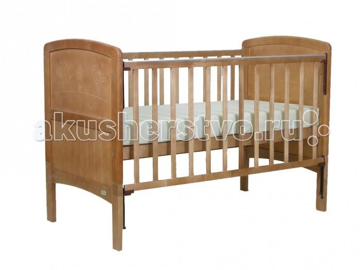 Детская кроватка Фея 820820Детская кроватка ФЕЯ-820 будет Вашим незаменимым помощником. Кроватка подходят детям с рождения, до 3 лет она используется с боковыми ограждениями, а после того, как ребенок подрос - снимаются ограждения и нижние части спинок.  Особенности: - Размер ложа: 70 х 140 см - «Автостенка» - механизм опускания одной рукой - 2 положения ложа - Ортопедическое основание - Накладка ПВХ - Материал: массив березы<br>