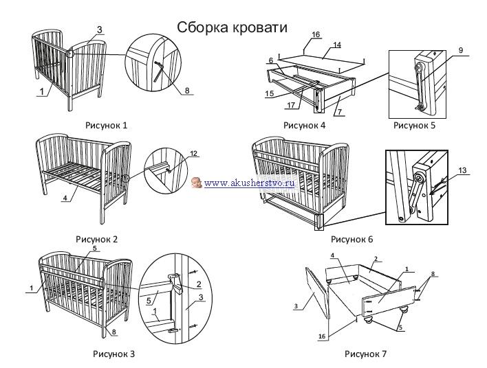 Кроватка детская алита 3 купить в интернет-магазине антошкаспб в.