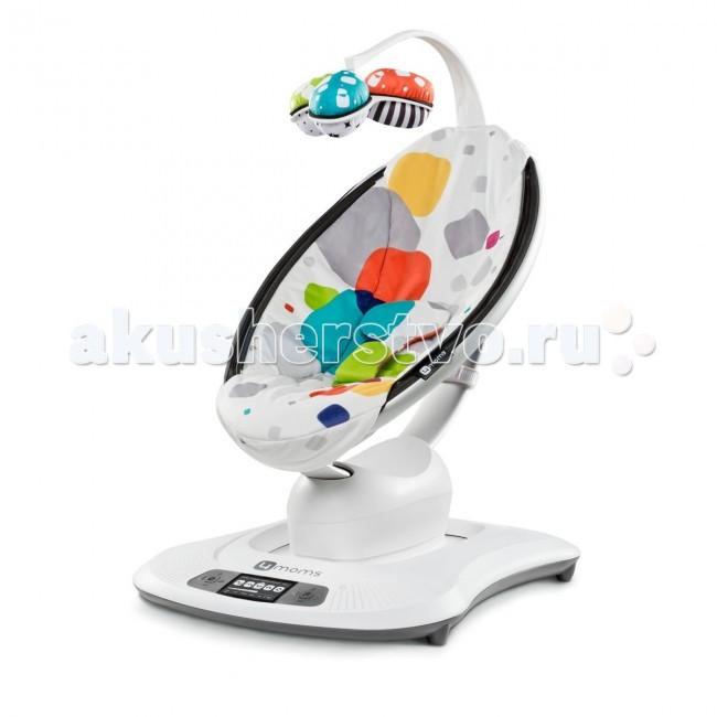Электронные качели 4moms MamaRoo 3.0MamaRoo 3.0Кресло-качалка 4momsTM mamaRoo движется вверх и вниз, а также раскачивается из стороны в сторону, точно как родители, успокаивающие своего малыша.  Пять уникальных движений:  Поездка на машине Кенгуру Качели Колыбель Волна  Особенности: Управляйте движением и звуком с помощью интеллектуального устройства. Оперативные системы, которые поддерживают удаленный режим работы: платформы iOS 7 (iPhone 4S,5,5C,5S,6,6+; iPod Touch 5, iPad Retina, iPad Air, iPad Air 2, iPad Mini, iPad Mini Retina) и Android 4.3 (Samsung Galaxy S3, S4, S5 Максимальный комфорт благодаря регулировке до любого положения, вплоть до горизонтального. Максимальный вес ребенка: 11,3 кг или умеет сидеть самостоятельно. Двигается вверх-вниз и раскачивается в стороны, точно как родители, успокаивающие своего малыша. 5 уникальных движений: поездка на машине, кенгуру, качели, колыбель, волна. Поддержка Bluetooth®: управление движением и звуком с помощью приложения 4moms. 5 скоростей. В 2 раза меньше традиционных качелей. Регулируемое откидывающееся сидение. 4 встроенных звука. Вход для MP3-плеера. Выберите один из четырех убаюкивающих звуков или включите свои любимые песни. Подвижная дуга со съемными двусторонними игрушками. Тканевое сидение, пригодное для машинной стирки. Сетевой блок питания — батарейки не требуются.  Вес: 6.5 кг Максимальный вес ребенка: 11 кг Разложенный вид (ДхШхВ): 84x49.5x65 см В комплекте: провод для mp3 плеера, адаптер.<br>