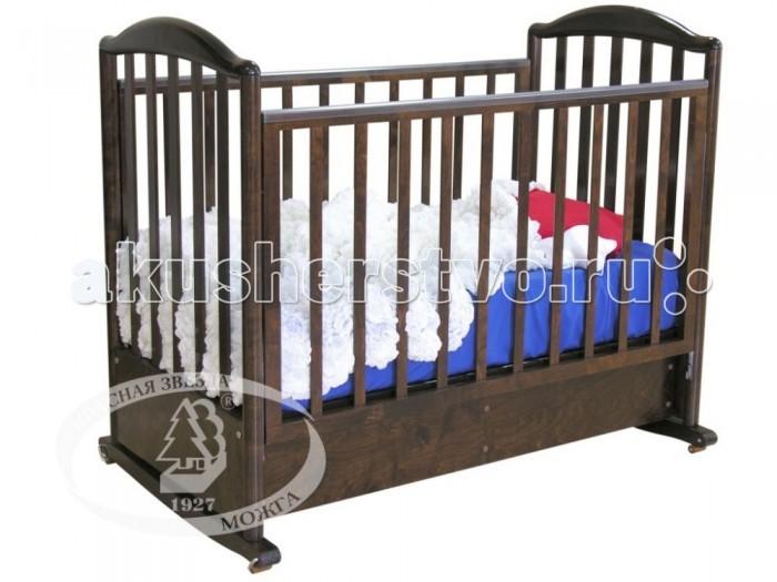 Детская кроватка Можга (Красная Звезда) Яна С-663 (качалка)Яна С-663 (качалка)Детская кроватка Можга Яна типа колесо-качалка.Обработана нетоксичными полиуретановыми лаками. Спальное место устанавливается на одно из двух позиций. Для опускания ограждения необходимо приподнять одной рукой ограждение, нажать ногой на нижнюю планку ограждения, и ограждение опустится.    колесо-качалка два уровня подматрасника опускающаяся боковина закрытый ящик для постельного белья силиконовые накладки возможность трансформации в диван размер кроватки (дхшхв): 127х78х110 см размер спального места: 120х60 см<br>