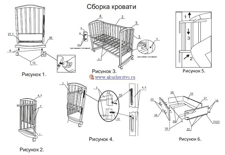 кроватка золушка инструкция по