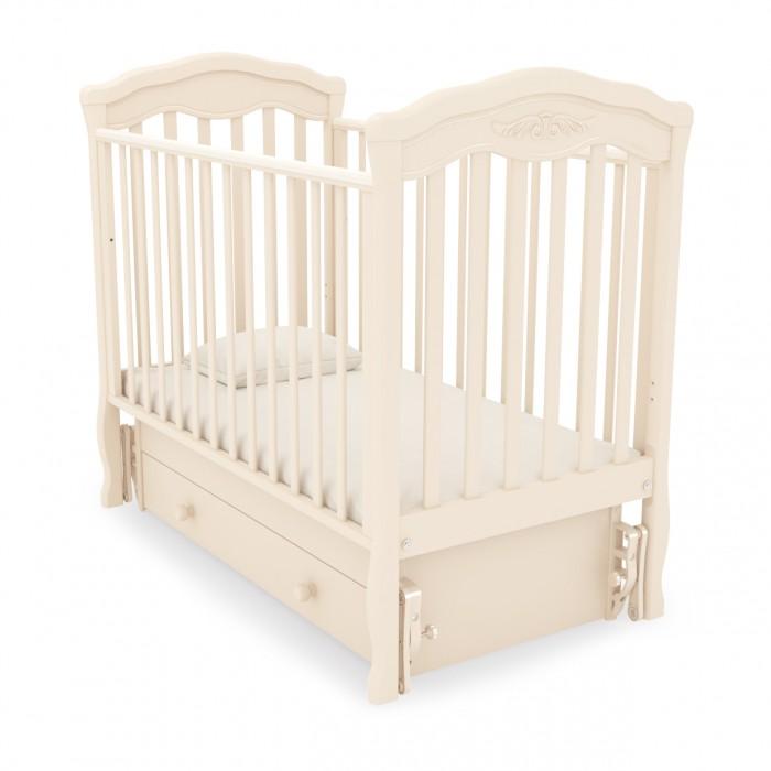 Детская кроватка Гандылян Шарлотта (универсальный маятник) - Слоновая кость