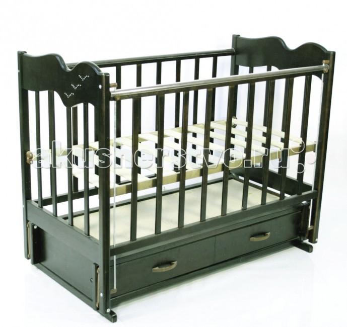 Детская кроватка Ведрусс Чайка 4 (продольный маятник) - Орех (светлый)