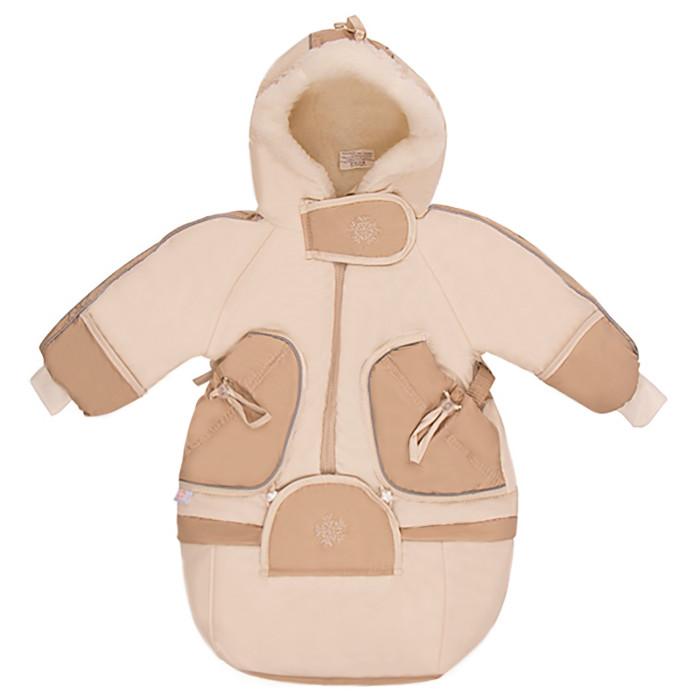 Little People Комбинезон-трансформер ЗимушкаКомбинезон-трансформер ЗимушкаЗима самое холодное время года, поэтому Вашему малышу нужна теплая защита во время прогулок и познания внешнего мира!  Детский комбинезон-трансформер Зимушка предназначен для детей с 0 месяцев до 1 года.  Комбинезон удобен в носке, и одевается как мешок до 5 месяцев (мешок имеет длину 74 см), а с 5 месяцев до 1 года как комбинезон (длина 80 см).  В капюшоне по краю вшита резинка, что позволяет регулировать его размер.   Верх комбинезона сделан из непромокаемой синтетической ткани ТАСЛАН, защищающей от дождя и ветра. Внутри мех (не отстегивается) - чёс из натуральной овечьей шерсти на синтетической основе (состав: 50% овечья шерсть, 50% полиэстер), что предотвращает скатывание плюс теплосберегающая мембрана на основе холлофана плотности 200.  Дополнительный клапан для защиты от ветра, ножки и ручки закрываются как на распашонках, путем отворотов.  Удобная трансформация - модель 3 в 1 - мешок, комбинезон, курточка (трансформируется по низу, отстегивается на молнии).  Размер: 74 см (с мешком), 80 см (с ножками).<br>