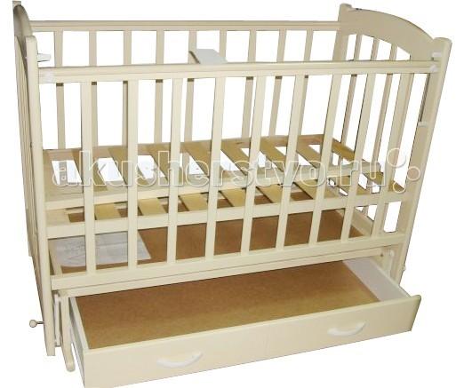 Детская кроватка Ведрусс Радуга №4 (маятник) - Слоновая кость