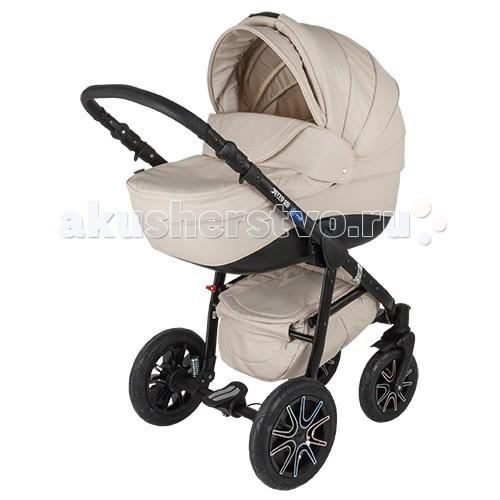 Коляска Adamex Jetto Ecco 2 в 1Jetto Ecco 2 в 1Adamex Jetto Ecco 2 в 1 детская коляска дизайн которой разрабатывался с сохранением лучших достоинств колясок Adamex и добавлением новых пожеланий родителей. Обшивка изготовлена из эко-кожи. Также коляска Adamex Jetto Ecco оснащена массой непревзойдённых функций и элегантным дизайном: прогулочный блок может быть установлен как по направлению движения так и против, регулируемое изголовье в люльке, регулируемый наклон спинки сиденья и подножки, вездеходность, компактное и легкое складывание коляски для транспортировки в автомобиле.  Люлька: вместительная люлька с вентиляционным окошечком подголовник можно регулировать в нескольких положениях для переноски люльки на капюшоне есть встроенная ручка капюшон оснащен козырьком от солнца и большим отворотом, которым можно закрыть малыша от плохой погоды внутренняя часть люльки изготовлена из хлопка  Прогулочный блок: в двух вариантах можно катать ребенка: лицом, либо спиной к маме спинка фиксируется в четырех позициях подножку можно регулировать ремни безопасности фиксируются в пяти точках (на них есть мягкие вставки) бампер перед крохой съёмный на капюшоне есть козырёк от солнца  Шасси: рама изготовлена из алюминия складывается по типу книжка надувные колеса на подшипниках пружинная амортизация передние колеса поворотные на 360 градусов (есть блокировка для прямой езды) стояночный тормоз на задней оси коляски корзина для покупок закрытая (выполнена из ткани) регулируемая по высоте ручка  Комплектация: шасси люлька прогулочный блок с накидкой на ножки сумка для мамы дождевик москитная сетка  Габариты: размеры в разобранном состоянии ДхШхВ 83х59х129 см размеры в собранном состоянии ДхШхВ 84х59х37 см ширина сиденья 35 см размеры люльки ДхШ 84х36 см вес прогулочного блока 5 кг вес люльки 5.6 кг вес рамы 9.4 кг вес коляски с люлькой 14.4 кг<br>