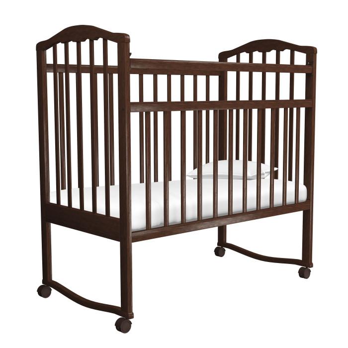 Детская кроватка Агат Золушка-1 качалкаЗолушка-1 качалкаИзготовлена из массива березы, покрыта нетоксичными и безвредными для здоровья детей лаками.   Опускаемая боковина. В последствии ее можно снять и кроватка превратится в уютный диванчик.  2 уровня ложа по высоте.  Механизм качания: колыбельный.  Колесики.  Внутренние размеры под матрас: 120х60 см  Внешние размеры: 127х66 см  Размеры:  67 x 107 x 127 см  Размер упаковки (ВхШхД): 125 x 66 x 15 см,  вес 15 кг<br>
