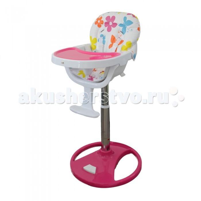 Стульчик для кормления Alis MacMacСтулья MAC торговой марки ALIS позволяют посадить ребенка к столу вместе со взрослыми или опустить кресло на комфортный уровень, чтобы малыш мог забираться в него самостоятельно.  Ремни безопасности соединяются в надежном замке. Снабжены пластиковым упором между ножек, что является дополнительным средством защиты подвижного малыша и не позволит сползти вниз.  У моделей удобные водонепроницаемые чехлы с утолщениями по периметру спинки, которые не позволят грудничку заваливаться на бок. В комплектацию входят удобные съемные столешницы и дополнительные подносы с углублением для стаканчика и ложки.  от 5 мес до 3 лет 6 уровней сидения по высоте; 5-ти точечные ремни безопасности; пластиковая подставка для ножек; съемная и регулируемая столешница; возможность регулировать высоту стула с помощью нажатия ноги; можно задвинуть под стол.<br>