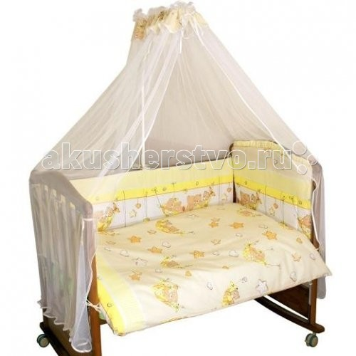 Комплект в кроватку Alis Мишки в гамаке (6 предметов)