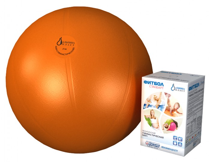 Альпина Пласт Мяч гимнастический фитбол Стандарт 55 см