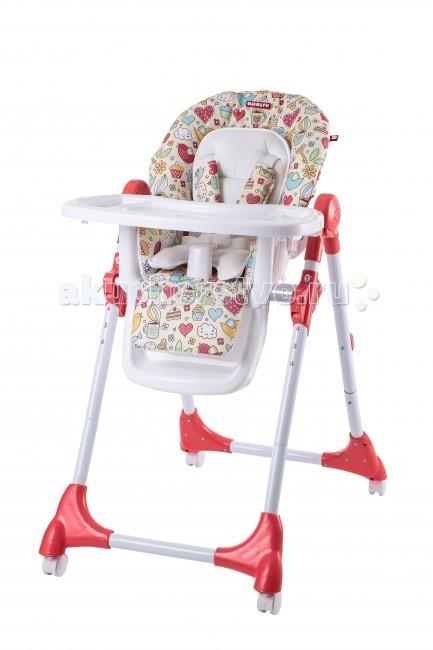 Стульчик для кормления Amalfy GB-008 - AmalfyGB-008Стульчик для кормления Amalfy подойдет детям, уже умеющим самостоятельно сидеть, т.е. примерно с 6-ти месяцев, когда малыш уже самостоятельно научился садится.  Характеристики: 5-ти точечные ремни безопасности 3 положения спинки 6 положений регулировки сиденья по высоте Легко складывается Легко перемещается на колёсиках Колёса с фиксаторами Подножка не регулируется Съемный чехол для сиденья Съемная столешница Рекомендуемый возраст: от 6 месяцев до 3 лет Максимальный вес ребенка 18 кг      Габаритные размеры в разложенном виде (ДхШхВ):90х58х91.5-109 см     Размеры в сложенном виде (ДхШхВ): 59х34х102.5 см     Высота от пола до сиденья: от 46.5 до 65.5 см     Глубина сиденья: 24 см     Ширина сиденья: 27 см     Длина сиденья (самое откинутое положение от верха спинки до конца сиденья): 69 см     Вес стульчика: 7.5 кг<br>