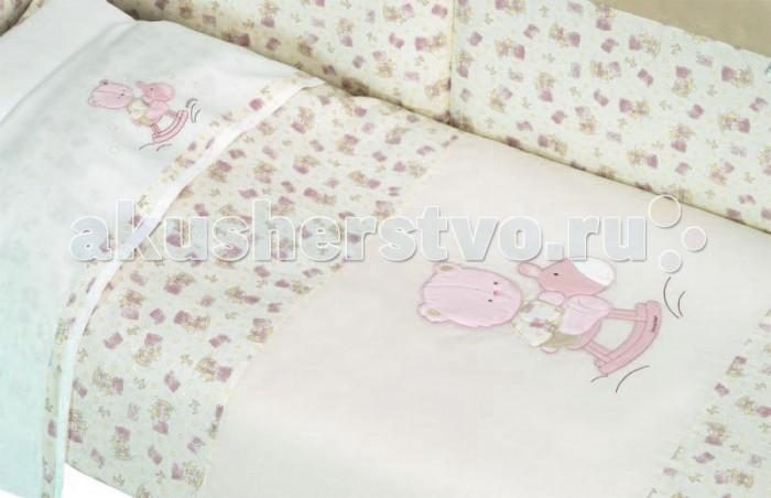 Комплект для кроватки Andy & Helen Медвежонок длинный борт (6 предметов)
