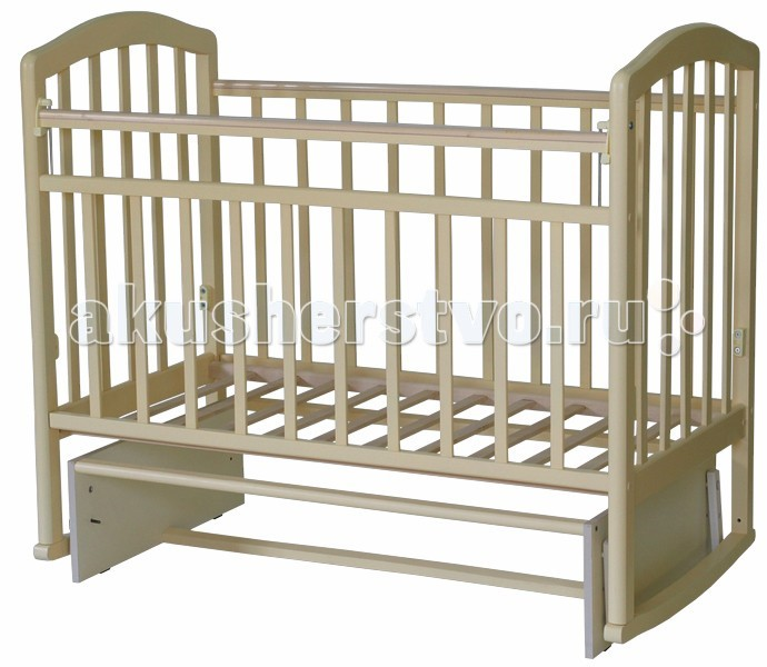 Детская кроватка Антел Алита 3 (маятник поперечный) - Бук