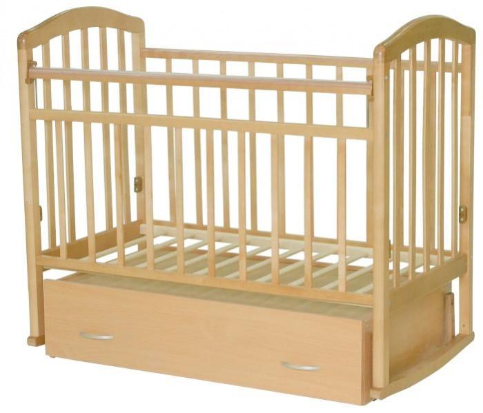 Детская кроватка Антел Алита 4 (маятник поперечный) - Бук