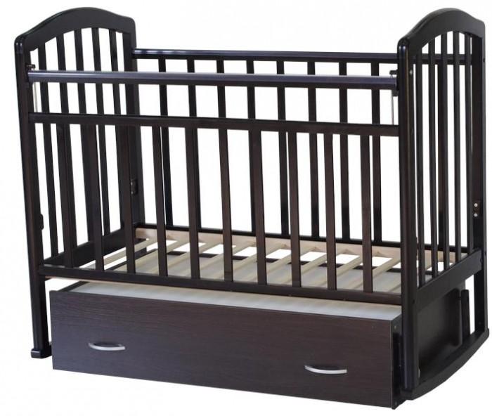 Детская кроватка Антел Алита 4 (маятник поперечный) - Венге