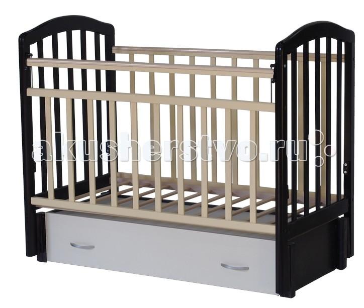 Детская кроватка Антел Алита 6 (маятник продольный) - Венге/Слоновая кость