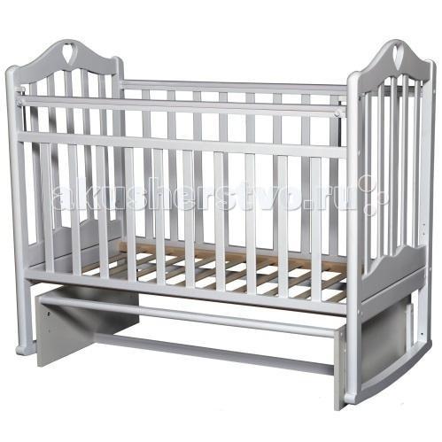 Детская кроватка Антел Каролина 3 (маятник поперечный) - Белый