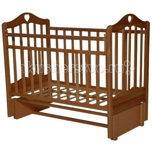 Детская кроватка Антел Каролина 5 (маятник продольный)