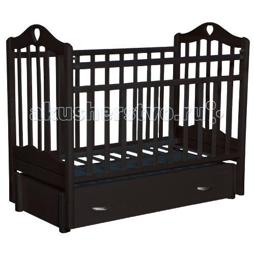 Детская кроватка Антел Каролина 6 (маятник продольный) - Венге