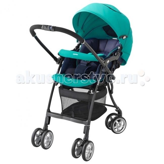Прогулочная коляска Aprica Air Ria LuxunaAir Ria LuxunaИнновационная модель коляски Air Ria Luxuna, которую можно использовать для детей с самого рождения. Специально для самых маленьких имеется анатомический вкладыш. Благодаря «зефирному» сиденью с системой анти-шок любая прогулка для малыша будет невероятно комфортной и удобной. Обратите внимание на уникальную систему терморегуляции сиденья: она обеспечит оптимальную температуру тела малыша независимо от погодных условий.  Прогулочный блок: предназначен для детей до 3-х лет, весом до 15 кг высокое сиденье мягкое зефирное сидение с системой анти-шок - защита от тряски при езде спинка регулируется по углу наклона от 120 до 170 градусов анатомический вкладыш для младенца, защищает и поддерживает в правильном положении головку и тело новорожденного большой капюшон с вентилируемыми вставками, можно трансформировать в тент от солнца. Капюшон отражает УФ лучи. на обратной стороне сидения имеется специальный отражатель, оберегающий от солнечных и тепловых излучений дорожного покрытия, предотвращая перегрев малыша. Такая система терморегуляции позволяет поддерживать оптимальную температуру тела ребенка при любой погоде пятиточечные ремни безопасности регулируются по высоте в зависимости от роста ребенка, легко трансформируются в трехточечные телескопическая регулируемая подножка удобный бампер сиденье и капюшон коляски выполнен из натуральных дышащих материалов удобная, перекидная ручка  Колеса: 4 пары поворотных колес с возможностью фиксации cпециальная система амортизации колес. Специальная система крепления колес, колеса легко преодолевают любые препятствия тормоз на каждом заднем колесе  Шасси: очень прочная, облегченная рама тип складывания «книжка», складывается одной рукой, стоит в сложенном виде, очень компактна вместительная корзина для покупок (сетчатая, 16 л, до 5 кг)  Общие размеры: в разложенном виде (шхдхв) 45х82-91х98-99 см в сложенном виде (шхдхв)45х34х98 см высота сиденья 55 см Вес 5,3 кг<br>