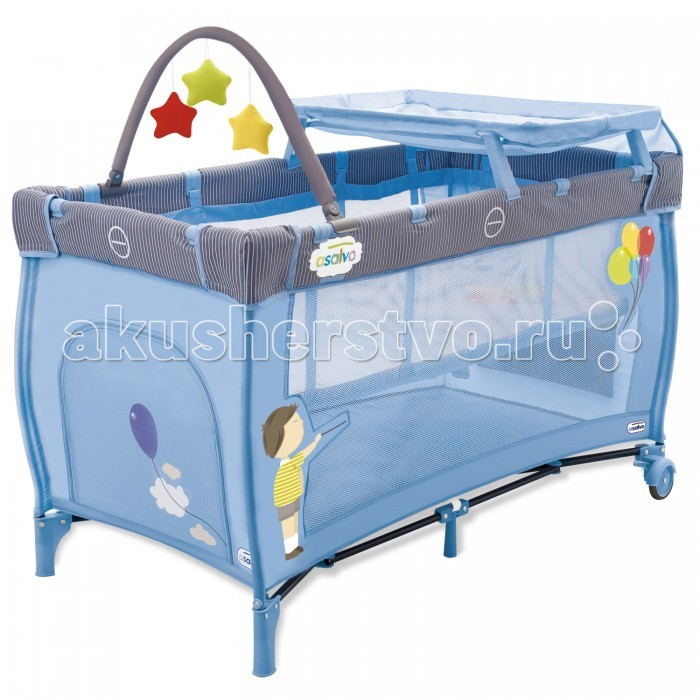 Манеж Asalvo Travel Cot Mix Plus
