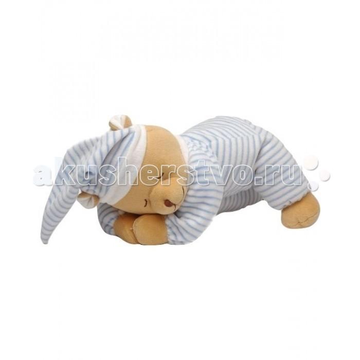 Мягкая игрушка Babiage Мишка Doodoo спящийМишка Doodoo спящийBabiage Мишка Doodoo спящий  Мишка Babiage Doodoo - это не просто обычная плюшевая игрушка. Такая игрушка поможет вам и вашему малышу с первых дней жизни высыпаться в полной мере. Материалы и детали игрушки полностью соответствуют всем требованиям безопасности.  Особенности: в игрушке расположен звуковой модуль, который издает мелодии колыбельных и звуки, имитирующие те, которые малыш слышал находясь еще в утробе матери  глаза и нос мишки вышиты, поэтому исключен риск того, что малыш что-то оторвет и проглотит;  в аудиосистему встроены сенсорные датчики, которые срабатывают на малейшее движение малыша, и звуки начинают воспроизводиться вновь; на лапках у медведя имеются мягкие липучки, с помощью которых его можно подвесить к элементам кроватки; мишка выполнен из гипоаллергенного плюша.  Рекомендации по уходу и использованию: рекомендуется использовать с первых дней жизни; игрушку можно стирать при температуре 30 градусов, вынув предварительно аудиосистему; аудиосистему можно использовать отдельно от игрушки, располагая ее при этом вне зоны досягаемости ребенка.  Высота игрушки в сидячем положении: 20 см<br>