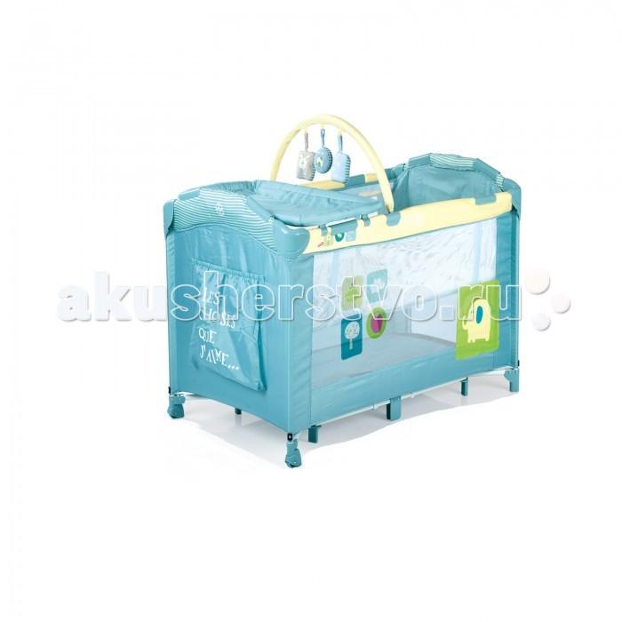 Манеж Babies P-695P-695Новая модель от компании Babies - манеж-кровать P-695. Комфортный и качественный манеж, который можно использовать для сна вашего малыша, а так же для игр на улице и дома.  Манеж Babies P-695H имеет дополнительный второй уровень для детей весом до 9 кг, чтобы маме не приходилось низко наклоняться, чтобы взять малыша на руки. Данный уровень не рекомендуется использовать после того, как ребенок научился самостоятельно садиться.  Так же для удобства родителей в манеже предусмотрены:  Съемный пеленальный столик, мягкий, с бортиками, не промокает, можно мыть  Карман для игрушек или средств поуходу за малышом  Дуга с яркими игрушками так же снимается  В комплекте москитная сетка для использования вне помещений  4 кольца-держателя, чтобы малыш мог самостоятельно подниматься  Быстрый и безопасный механизм складывания-раскладывания манежа со специальным замком-фиксатором  Дополнительные ножки посередине манежа обеспечивают дополнительную устойчивость  Для того, чтобы вашему малышу было удобно съемный мягкий матрасик  Манеж компактно складывается в сумку-переноску  Специальная форма ножек для того, чтобы манеж невозможно было опрокинуть даже облокотившись на него  Манеж изготовлен из прочных антибактериальных тканей, удобных для чистки.   Габаритные размеры: 120 х 68 х 77 см Вес: 12 кг<br>