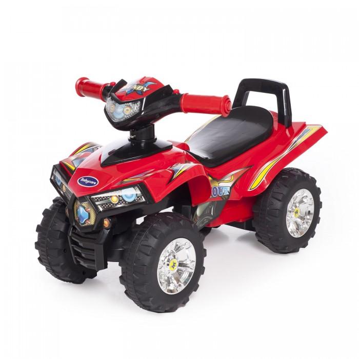 Каталка Baby Care Super ATVSuper ATVКаталка Baby Care Super ATV - легкая, надежная и качественная каталка-квадроцикл. Очень понравится юным гонщикам. Она может стать первым личным транспортом в жизни малыша.  У каталки надежные 17-сантиметровые колеса с рисунком на шинах. Удобное широкое сидение гарантирует комфорт во время езды. Спинку сидения заменяет ручка, пользуясь которой, каталку можно толкать. Впереди расположен руль.   Каталка отличается оригинальным дизайном с использованием ярких наклеек. Большая прочность, маневренность и устойчивость гарантируют то, что каталка подойдет даже для самых непоседливых малышей.  Вес каталки: 2,4 кг  Допустимый вес ребенка: 27 кг  Размер: 60 х 38 х 42 см<br>