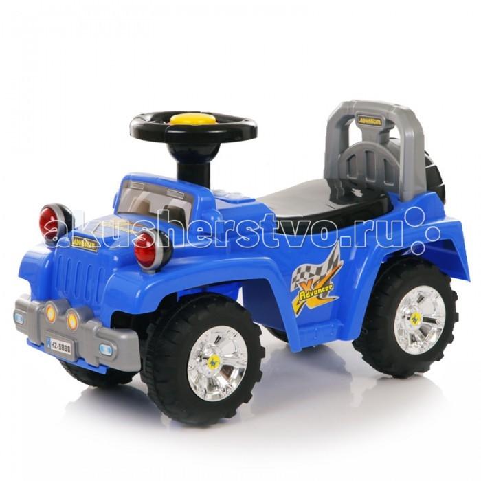 Каталка Baby Care Super JeepSuper JeepBaby Care Super Jeep - суперлёгкая и очень надежная каталка.    Машинка выполнена таким образом, чтобы быть максимально безопасной для малыша. У нее отсутствуют острые углы.  Есть поворотный руль с кнопкой-пищалкой, звуковые и световые эффекты. У джипа (под сидением) имеется багажник для игрушек.  Размер каталки: длина 66 см, ширина 30 см, высота 40 см. Вес: 3 кг. Максимальная нагрузка: 27 кг. Размер колёс: 17.5 см.<br>