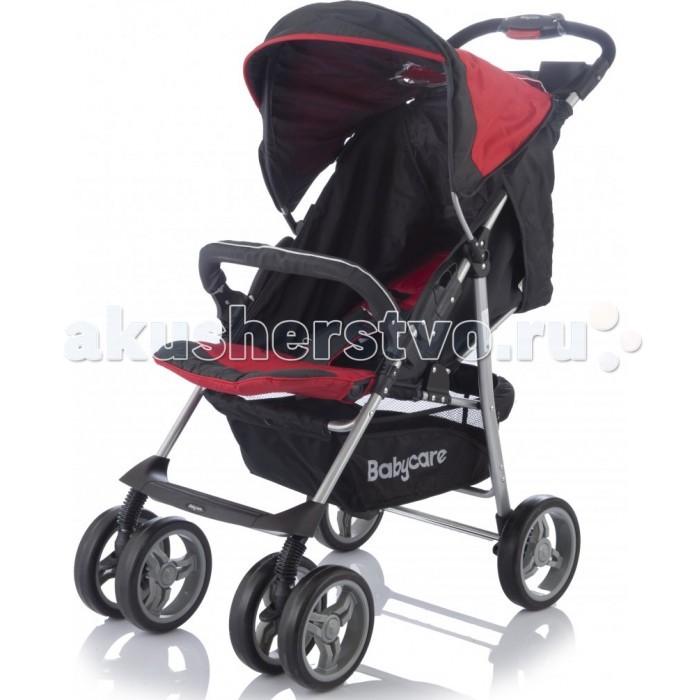 Прогулочная коляска Baby Care VoyagerVoyagerПрогулочная коляска Baby Care Voyager – замечательный вариант для ежедневных прогулок с малышом.   Коляска предназначена для малышей от 6 месяцев.  Именно в этот период малыши начинают активно развиваться и уже могут самостоятельно сидеть. Основными достоинствами модели являются надежность и высокое качество используемых материалов, простота и легкость конструкции, а также удобное и комфортное управление.   Легкое алюминиевое шасси способствует значительному снижению веса коляски (всего 7.5 кг).    3 положения спинки (включая горизонтальное 170 градусов)  5-ти точечный ремень безопасности с мягкими наплечниками  Жесткая спинка с плавно регулируемым наклоном   Облегченная алюминиевая рама   Двойные плавающие передние колеса с фиксацией  Амортизаторы (металлические пружины)  Диски из ударопрочного и морозостойкого пластика  Колеса из вспененной искусственной резины пеноплена с добавлением каучука, по асфальту не гремят   Большая корзина для вещей   Чехол на ножки  Подставка для родителей  Легко и компактно складывается (одной рукой)  Для детей от 0,5 до 3-х лет (до 18 кг).<br>