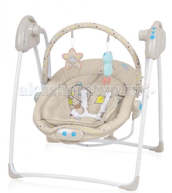 Качели электронные Baby Design LokoLokoЯркие эмоции или спокойный и безмятежный сон подарят качели Baby Design Loko. А родители получат свободную минутку для отдыха или просто смогут наблюдать за потешными играми ребенка.  Особенности:  Обеспечивают спокойное качание, с возможностью выбора 3-х скоростей . 12 мелодий на выбор помогут успокоить ребенка. Возможность настройки проигрывания мелодий на 15, 30 или 60 минут. Время качания можно настроить на 8, 15 или 30 минут. Механизм укачивания и музыкальный блок работают от сети (с помощью адаптера) и от батареек. Мягкие, яркие игрушки, подвешенные на дуге, способствуют развитию ребенка и станут для него развлечением. Обивку можно легко снять и выстирать. Имеют дополнительный мягкий вкладыш. Виброблок с 3-мя уровнями вибрации (работает только от батареек LR14 1.5B). Пятиточечные точечные ремни безопасности. Небольшие размеры в сложенном виде. Предназначены для детей весом до 9 кг.  Размеры качелей: ширина: 65 cм, высота 70 cм, глубина 70 cм Размеры сиденья: ширина 40 cм, размер вкладыша 30 cм, высота 45 cм<br>
