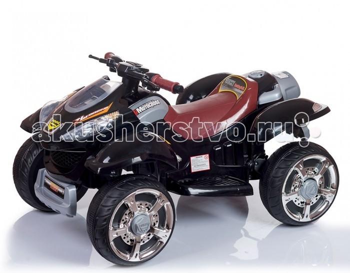Электромобиль BabyHit RockyRockyДетский электромобиль Babyhit Rocky – мощный квадроцикл, который станет любимым развлечением для малыша 3-6 лет.   Широкие пластиковые колеса обеспечат машинке устойчивость, а длинное сиденье и подножки с рифленой нескользящей поверхностью – удобство посадки.   Babyhit Rocky двигается со скоростью 3,5км/ч, это средняя скорость пешехода, поэтому малыш во время поездки остается в безопасности.  Особенности: Пластиковые колеса Два редуктора/электродвигателя мощностью 45 Вт каждый Две АКБ 6В/7Ач каждая Световые эффекты Звуковые эффекты, МP3<br>